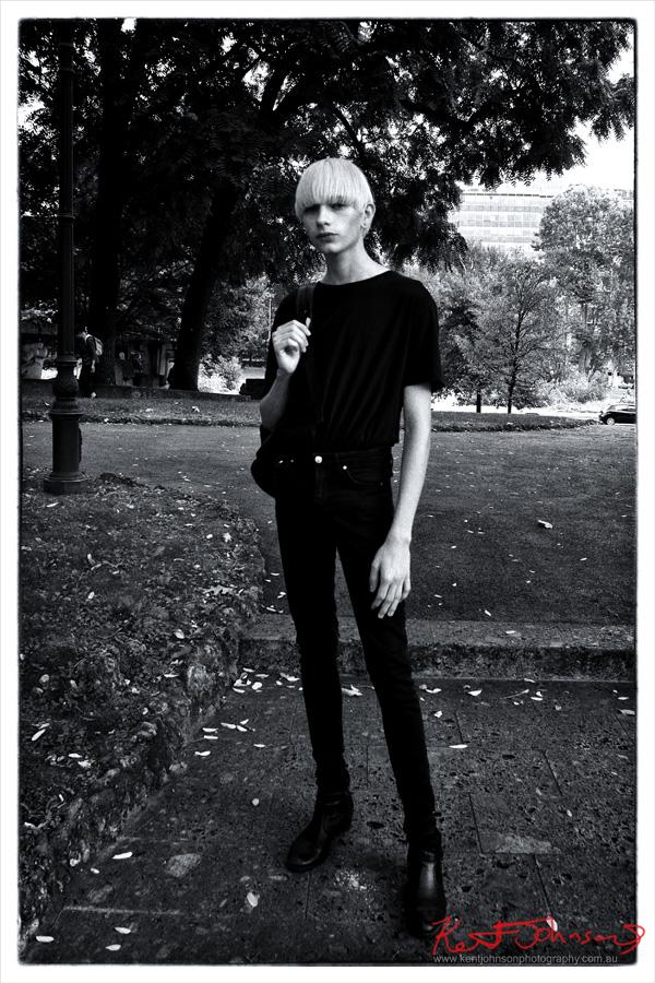 Mattia Castro - Off Duty Model Look - Milan Fashion Week - Photography by Kent Johnson for Street Fashion Sydney.