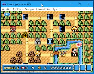 Super Mario Bros 3 emulado
