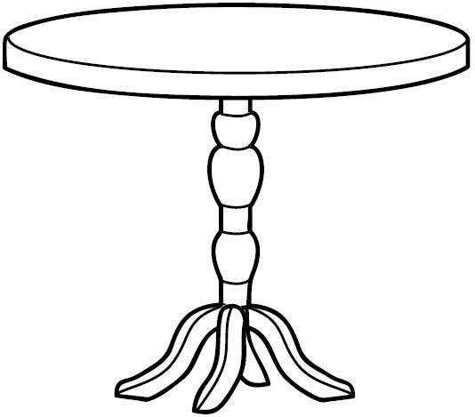 Tranh tô màu cái bàn tròn