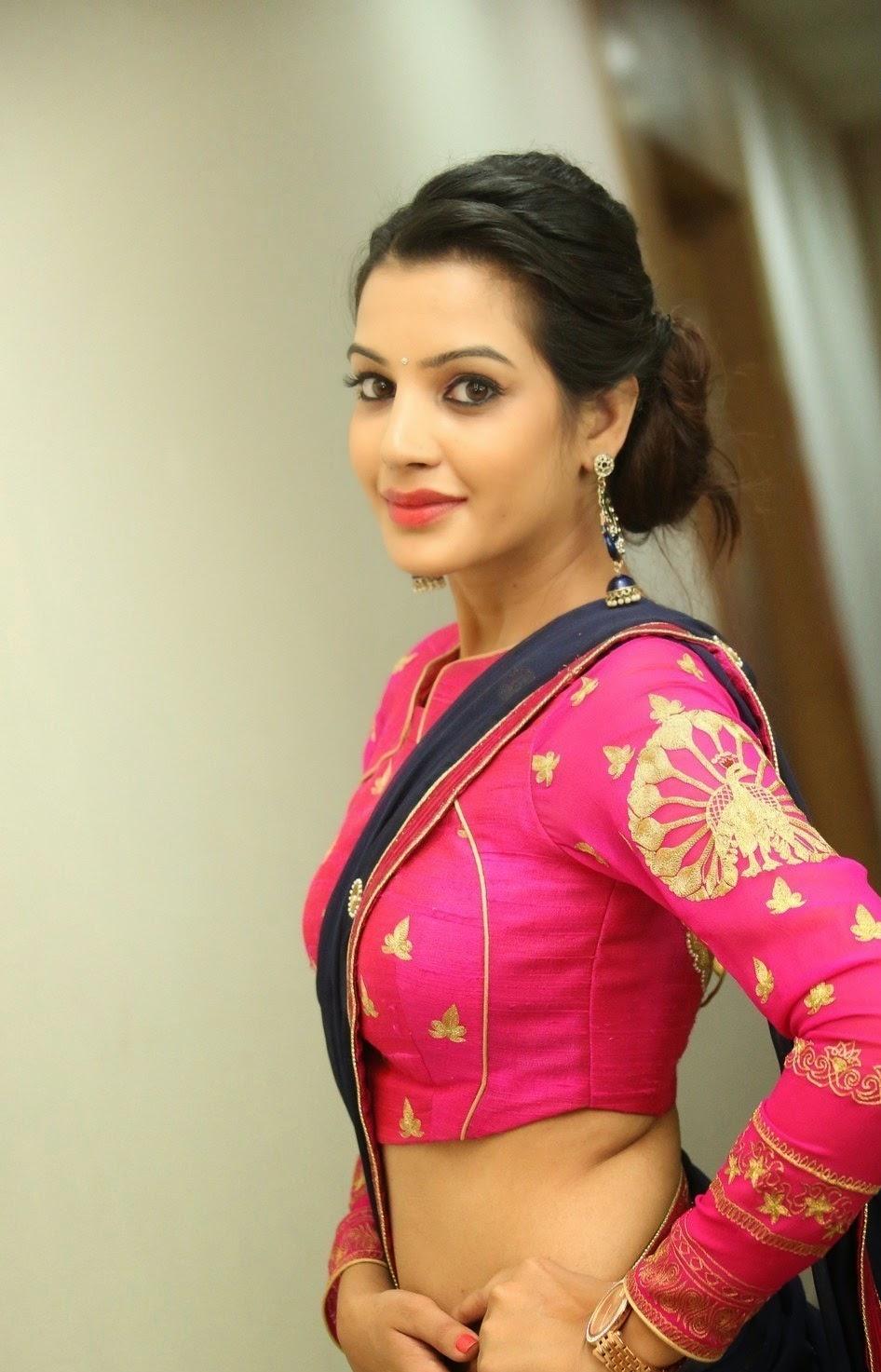 Telugu Actress Deeksha Panth Hot And Sexy Navel Show -8705