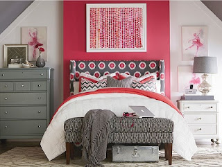 Cuarto color rosa y gris
