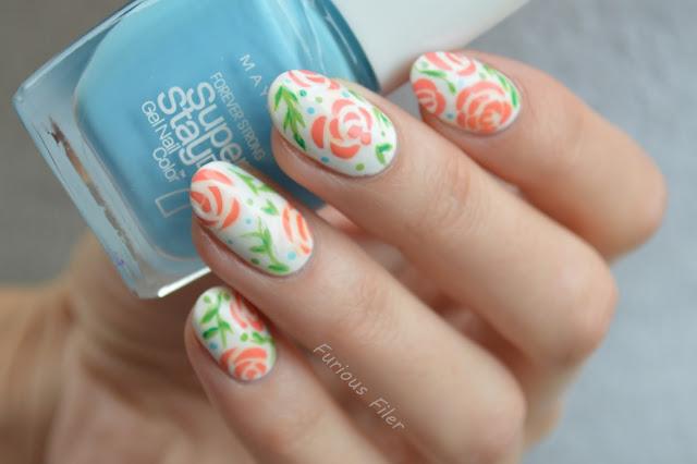 floral flowers manicure delicate vintage spring