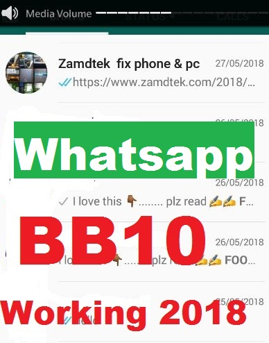 How to fix whatsapp on Blackberry 10 in 2018