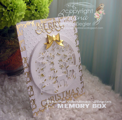 christmas eve card in white side view