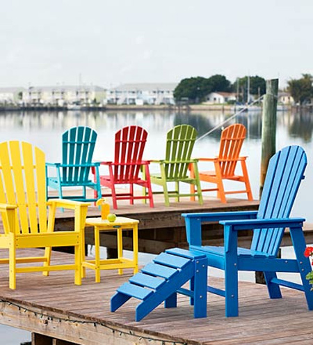 yellow adirondack chairs plastic bar height patio lowes prance and sparkle: things i love: