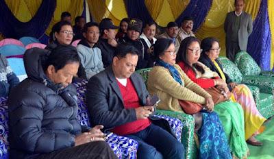 GTA chief Binay Tamang, vicechairman Anit Thapa in Mungpoo