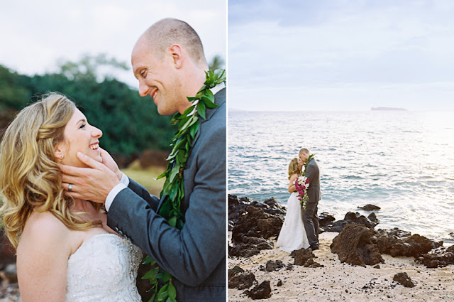 maui wedding couple