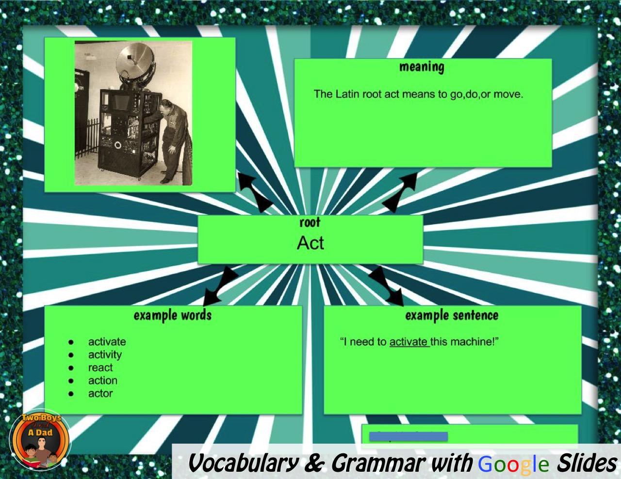 Teach vocabulary and grammar with Google Slides