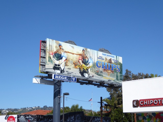 Chips movie billboard