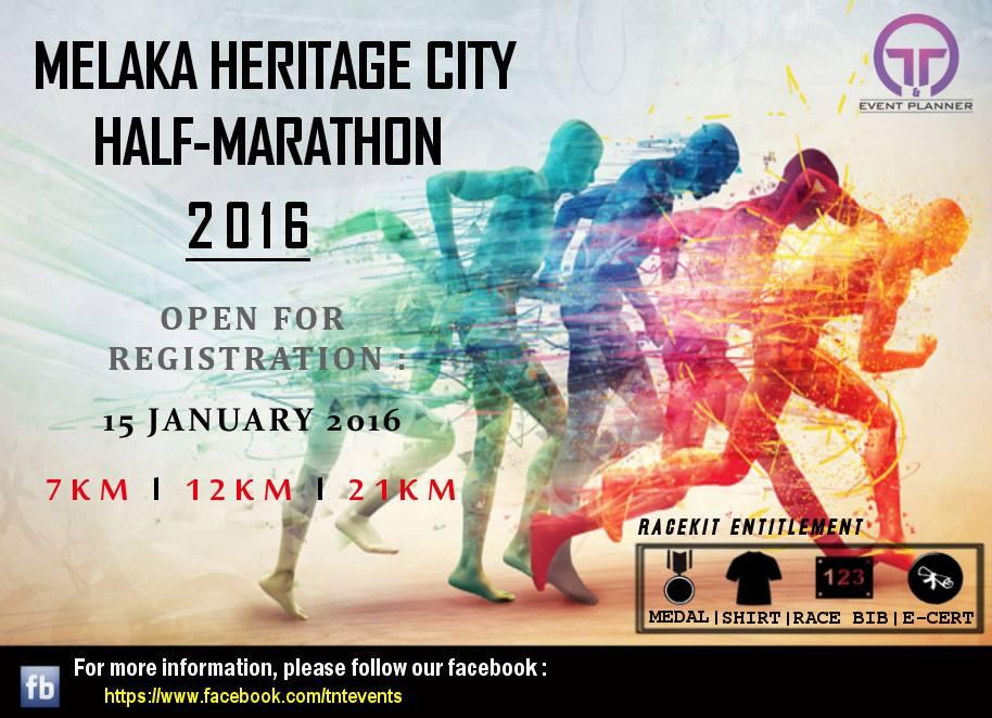 Running in Melaka Heritage City Half Marathon 2016