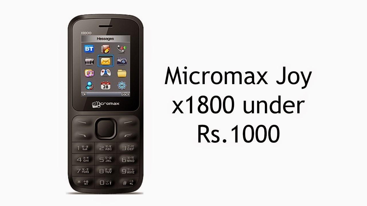 Micromax Joy X 1800