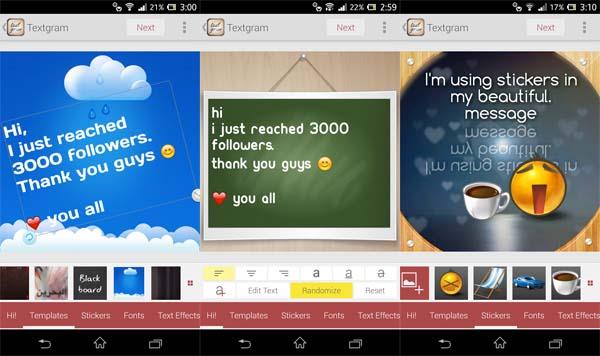Textgram - Aplikasi Pembuat Kata Kata Android