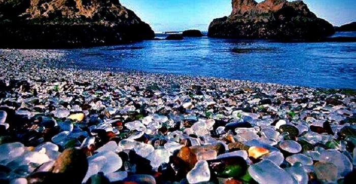 Glass Beach of Fort Bragg California