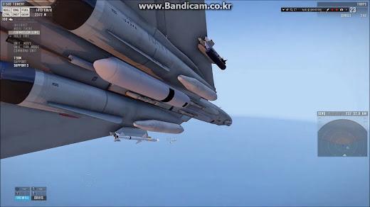 Arma3用ミサイルとポッドMODの胴体中央部にあるTARPS