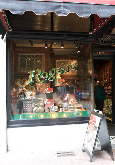Roger's Chocolates in Victoria, British Columbia has been crafting chocolate locally since 1885.