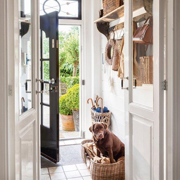 Hall de entrada no melhor do estilo r stico decora o e - Casa diez recibidores ...
