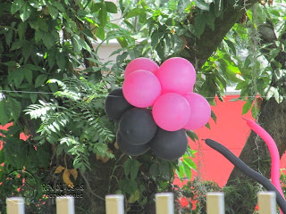 DECORACION MONSTER HIGH CON GLOBOS MEDELLIN