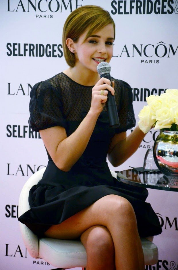 Emma Watson launch of her Lancôme Rouge in Love collection