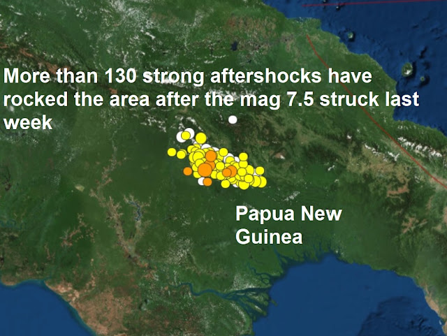 UPDATE - 7.5 Strong Earthquake Strikes Papua New Guinea, 4.5M Hits Puerto Rico Naamloos