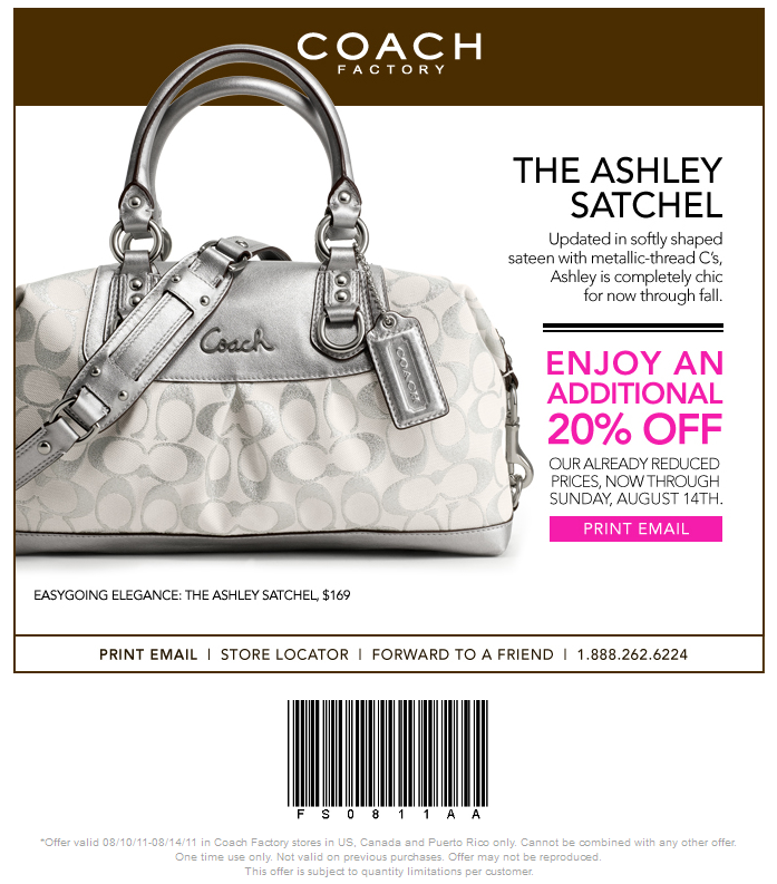 Latest add Coach Outlet Coupons