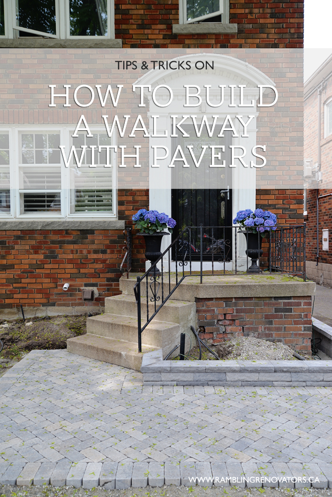 how to build a walkway with pavers