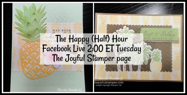 The Happy (Half) Hour Live Stamping Class | Tuesdays at 2 PM ET on The Joyful Stamper Facebook page