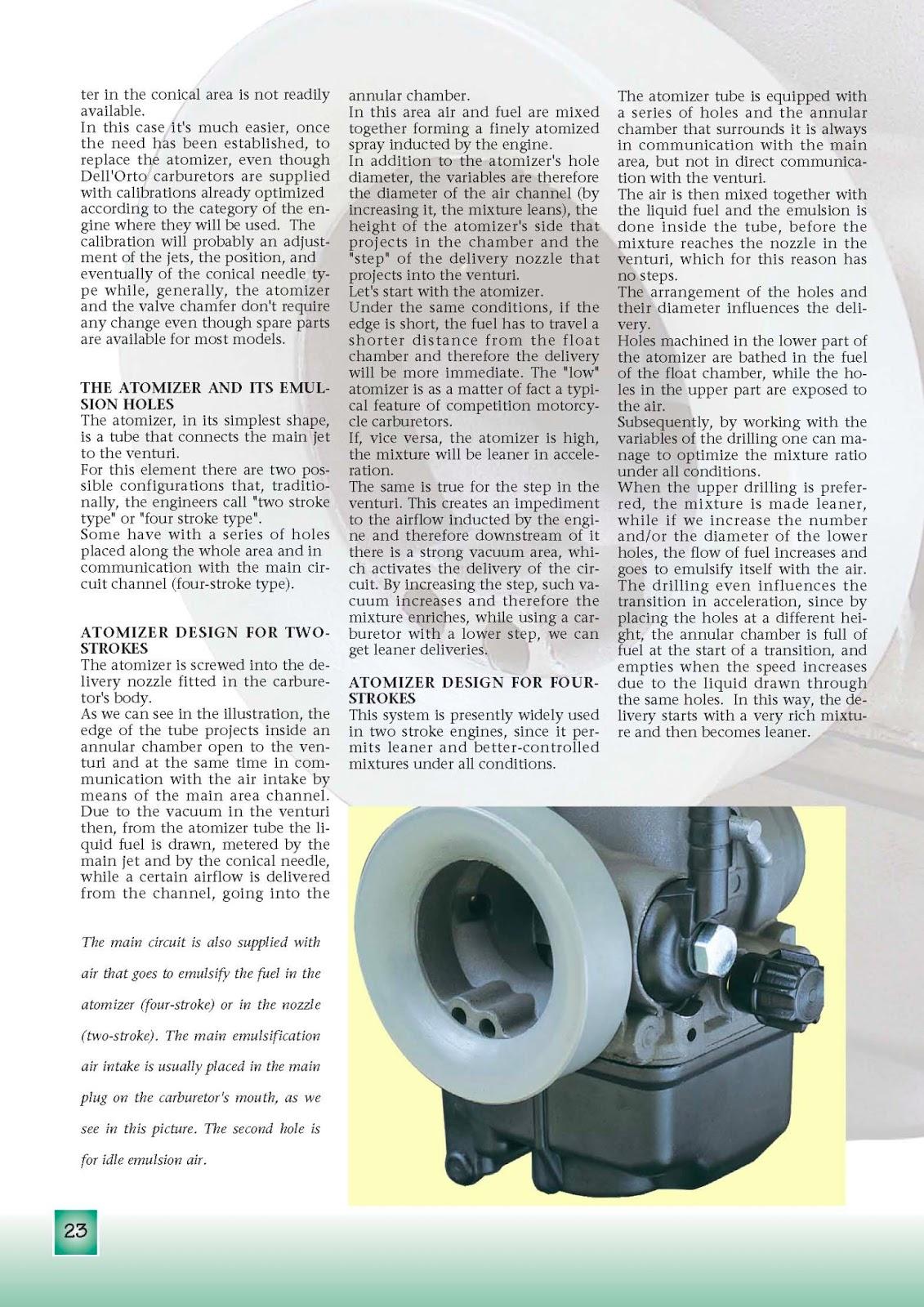 OB1 Repairs: Dellorto Carburetor Manual