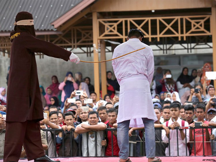 public caning Aceh is the only province in majority-muslim indonesia to follow islamic law and imposes public caning for crimes such as theft, gambling.