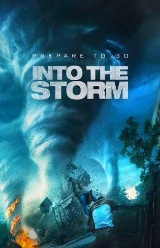 Poster of Into the Storm 2014 BRRip Dual Audio 720p ESub 900Mb at worldfree4u