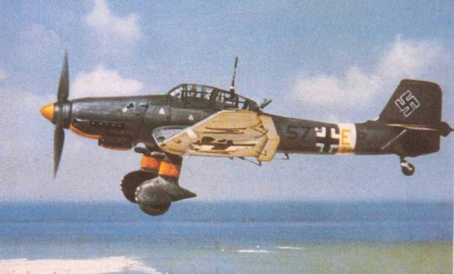 Luftwaffe Junkers Ju-87 Stuka dive bomber Planes in color worldwartwo.filminspector.com