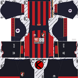 A.F.C. Bournemouth 2018/19 Kit - Dream League Soccer Kits