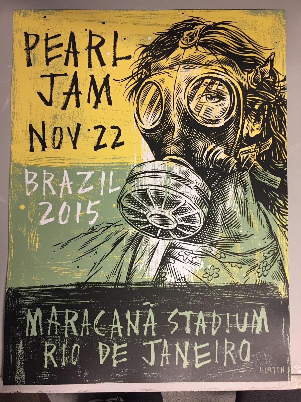 Inside The Rock Poster Frame Blog Ben Horton Pearl Jam