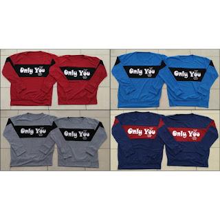 Jual Online Sweater Only You Couple Murah di Jakarta Bahan Babytery Terbaru