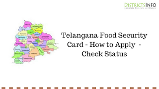 Telangana Food Security Card - How to Apply  - Check Status