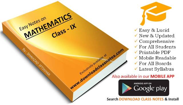 Mathematics Notes for 9th Class for FBISE Islamabad & Punjab Boards