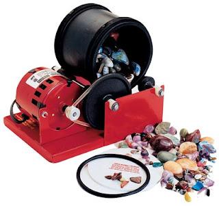 Maquina tamboreadora para hacer piedras semipreciosas roladas