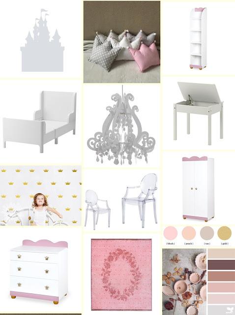pokój dziecięcy, pokój dziewczynki, pokój dziecka, pokój księżiczki, pokój różowy, ikea