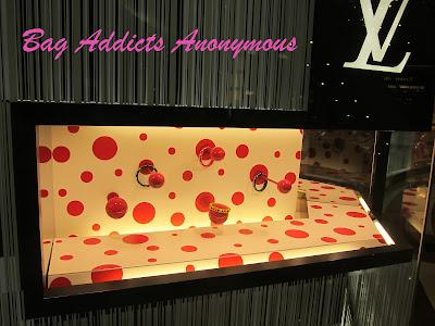 Yayoi Kusama x Louis Vuitton Bangles On Display