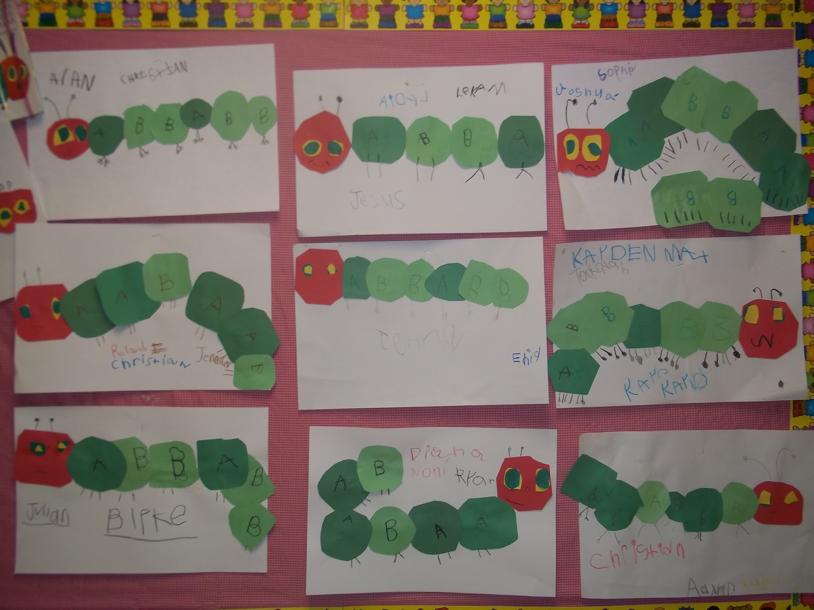 Mrs Wood S Kindergarten Class Caterpillar Patterns