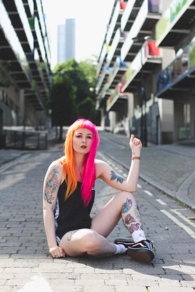 Alternative Fashion Blogger Foxxtailz Styles Ellesse Playsuit
