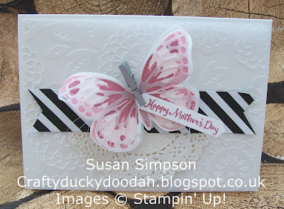 Stampin' Up! Susan Simpson UK Independent Stampin' Up! Demonstrator, Craftyduckydoodah!, Watercolour Wings, Dragonfly Dreams, Lovely Lace Embossing  Folder, Supplies available 24/7 from my online store,