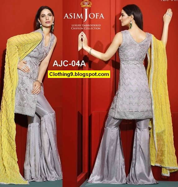 Asim Jofa Luxury Chiffon Collection Embroidered 2016