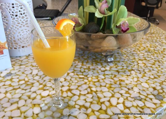 Danat Jebel Dhanna welcome drinks