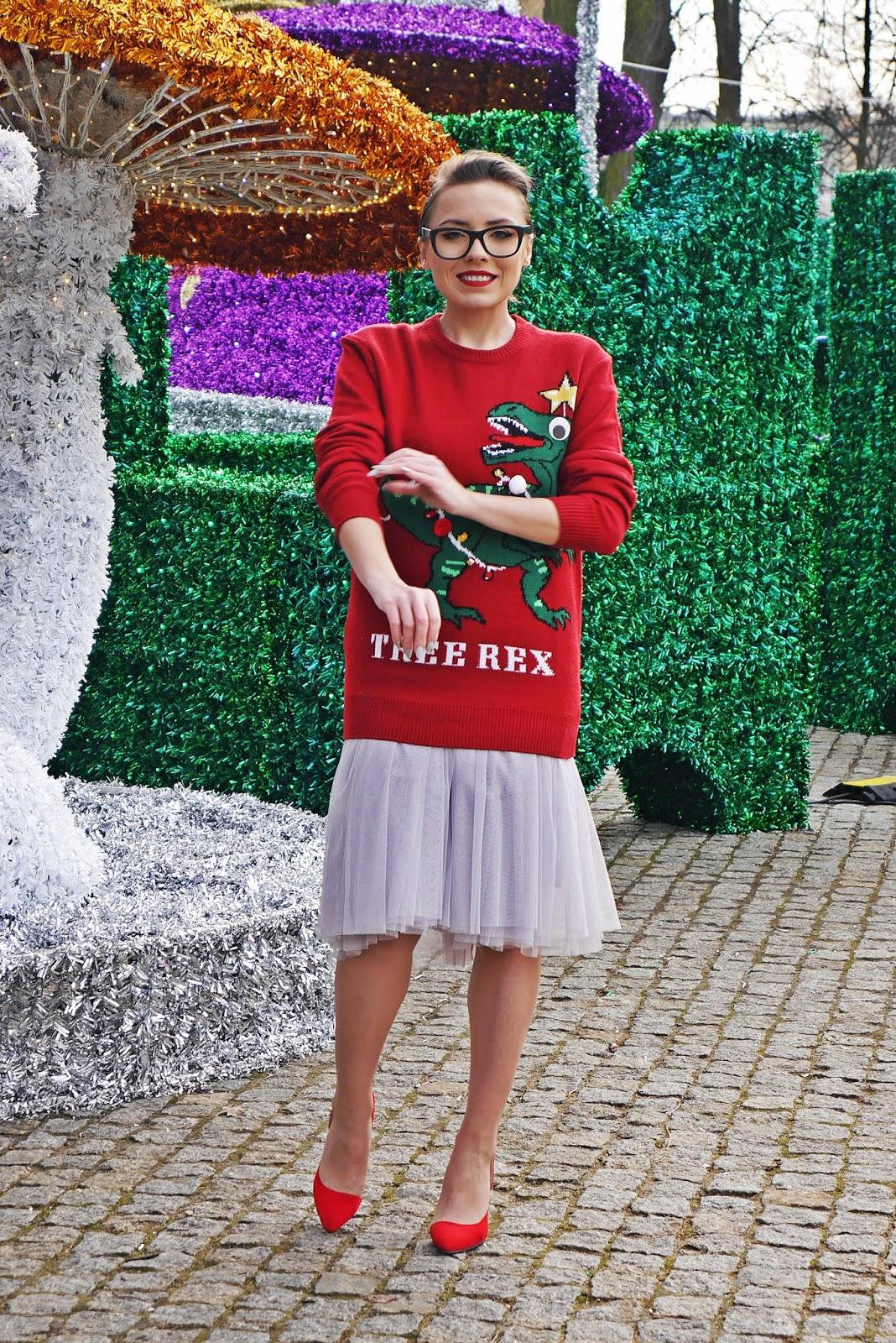 1_sweterek_swiateczny_dinozaur_h&m_spodnica_tiulowa_czerwone_szpilki_karyn_blog_modowy_181217df