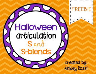 Halloween Freebie for Articulation - Great games and activities!