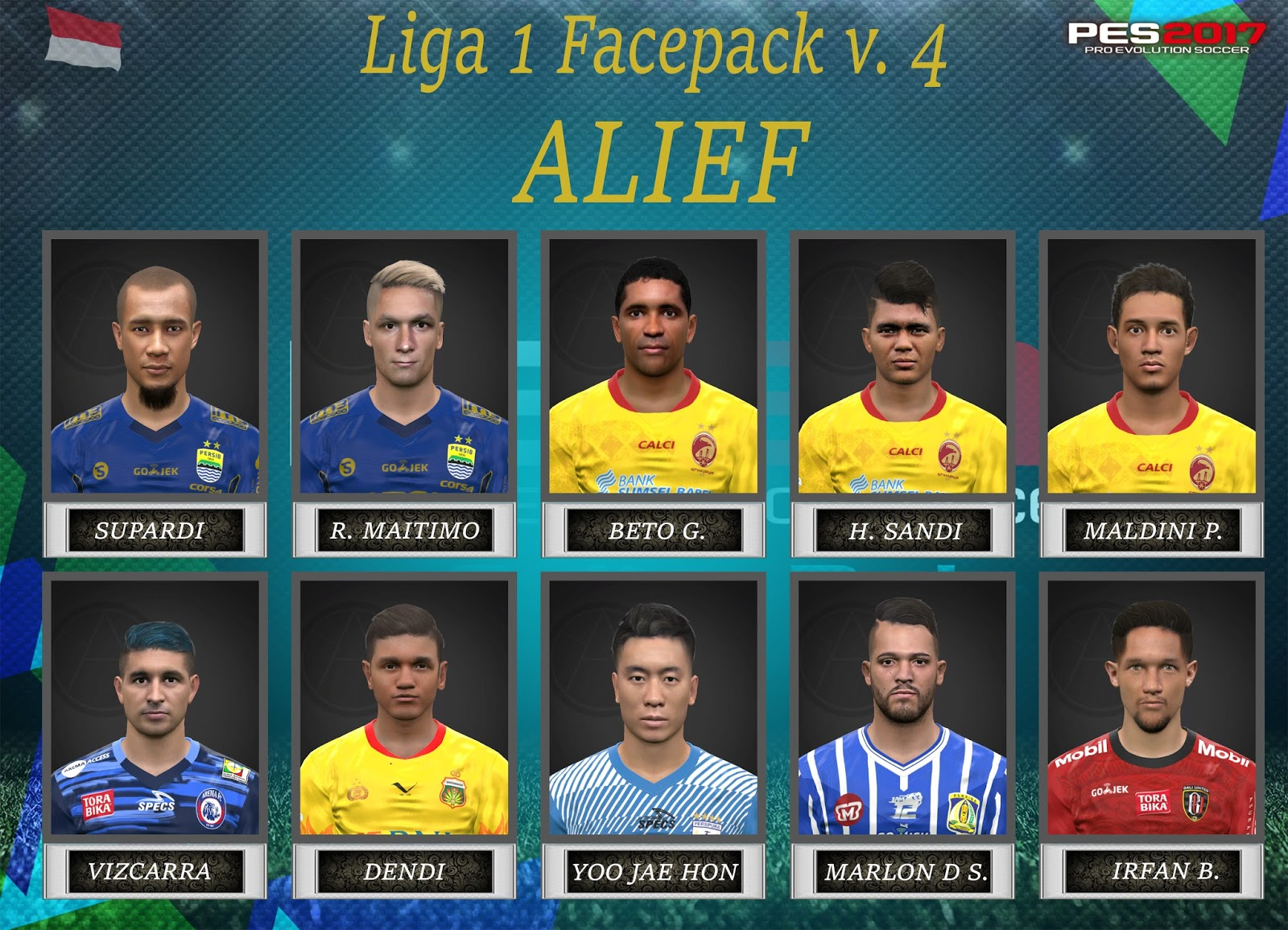 PES 2017 Liga 1 Facepack v. 4 for iPatch and SSPatch by Alief