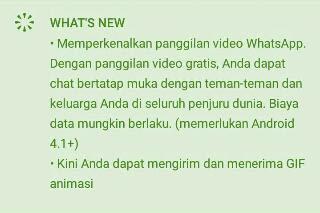 Beberapa Fitur Terbaru Di Versi Terbaru Whatsapp