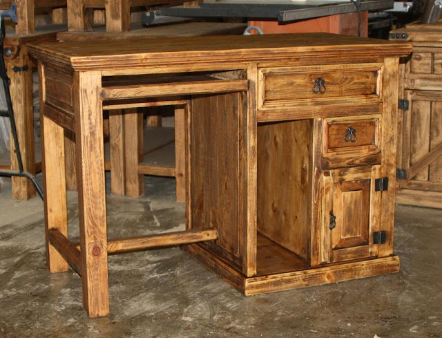 best buy rustic pine office furniture for sale discount