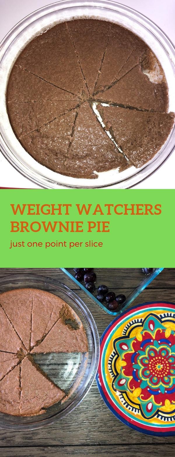 Weight Watchers Brownie Pie – just one point per slice #WW #BROWNIE #PIE #WEIGHTWATCHERS