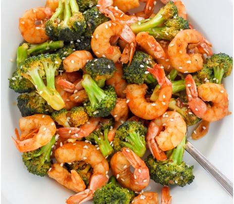 20-Minute Skinny Sriracha Shrimp and Broccoli #quickcook #healthyrecipe
